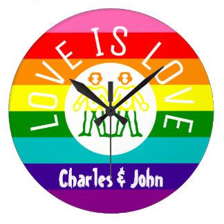Relógio Grande Logotipo alegre do arco-íris do orgulho LGBT do
