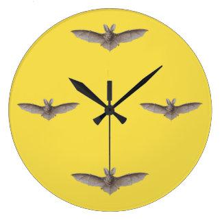Relógio Grande Lua cheia do amarelo do tempo do bastão do vintage