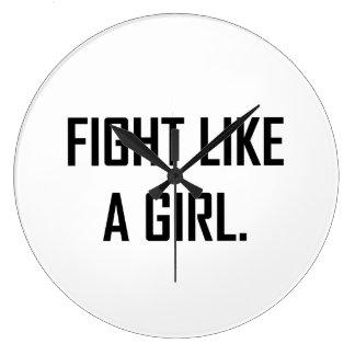 Relógio Grande Luta como uma menina