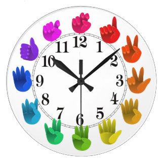 Relógio Grande Luz da roda de cor do arco-íris do linguagem
