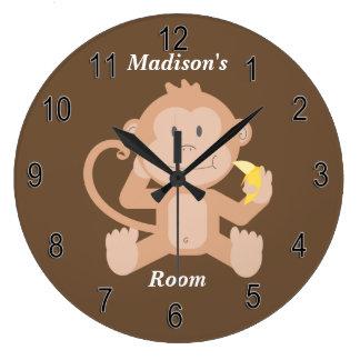 Relógio Grande Macaco bonito do bebê do pulso de disparo das