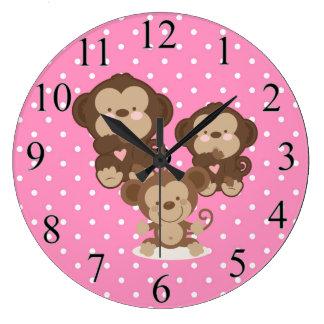 Relógio Grande Macacos