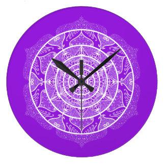Relógio Grande Mandala Amethyst
