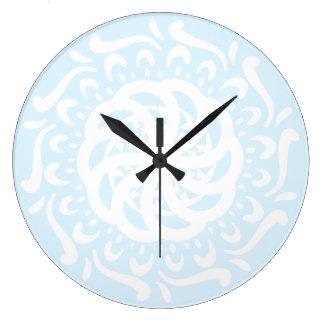 Relógio Grande Mandala ártica