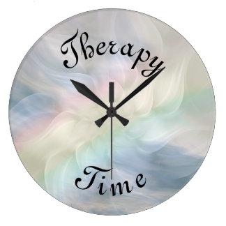 Relógio Grande Mandala azul do arco-íris do tempo da terapia