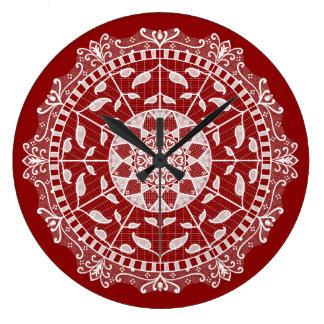Relógio Grande Mandala da framboesa