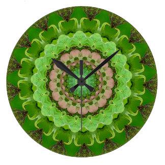 Relógio Grande Mandala da paz do Dogwood