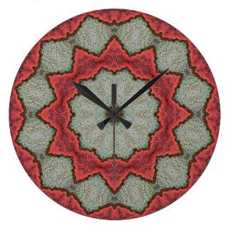 Relógio Grande Mandala de cobre 04890-1 do Patina