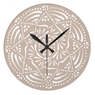 Relógio Grande Mandala de lãs