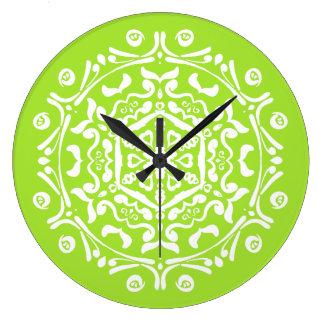 Relógio Grande Mandala do limão