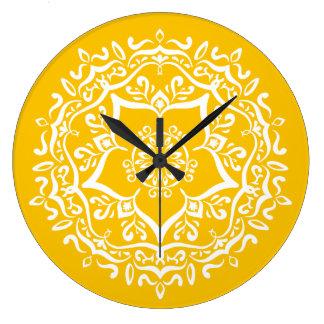 Relógio Grande Mandala do mel