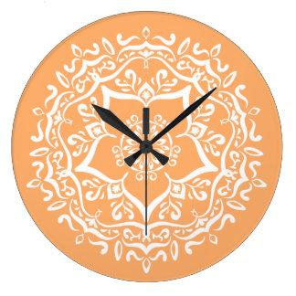 Relógio Grande Mandala do melão