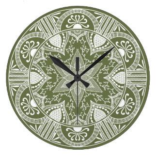 Relógio Grande Mandala do musgo