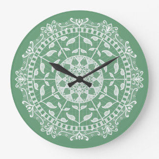 Relógio Grande Mandala prudente