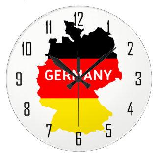 Relógio Grande Mapa de Alemanha com bandeira e números