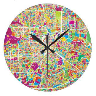 Relógio Grande Mapa de néon de Houston, Texas |