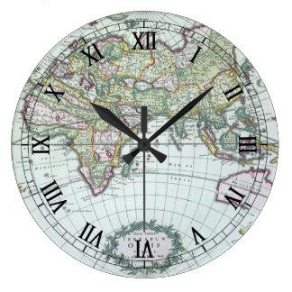 Relógio Grande Mapa do mundo antigo do século XVII, Frederick De