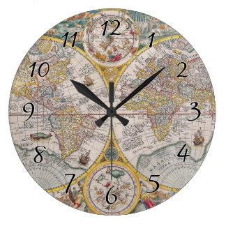 Relógio Grande Mapa do mundo medieval desde 1525