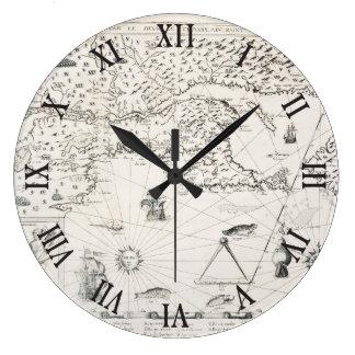 Relógio Grande Mapa do mundo medieval Quebeque Novo-France