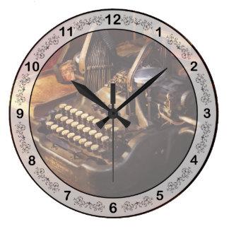Relógio Grande Máquina de dactilografia de Steampunk - de Oliver