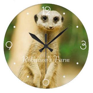 Relógio Grande Meerkat bonito