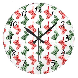 Relógio Grande Meias do Natal de Paisley