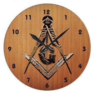 Relógio Grande Mentes maçónicas (ouro)