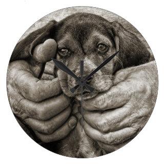 Relógio Grande Minha arte fotográfica do filhote de cachorro do