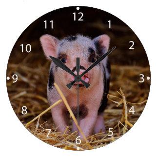 Relógio Grande mini porco