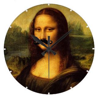 Relógio Grande Mona Lisa com bigode