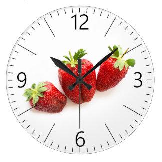 Relógio Grande Morangos