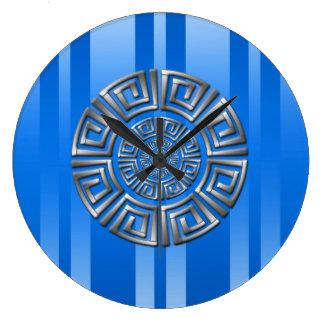 Relógio Grande Motivo grego do círculo