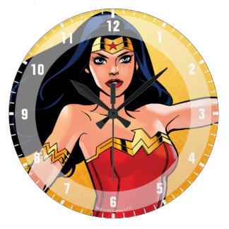 Relógio Grande Mulher maravilha com laço - luta para justiça