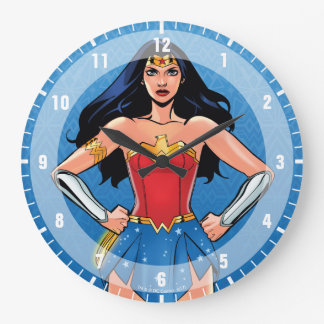 Relógio Grande Mulher maravilha - luta para a paz