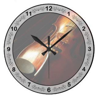 Relógio Grande Música - violino - os clássicos