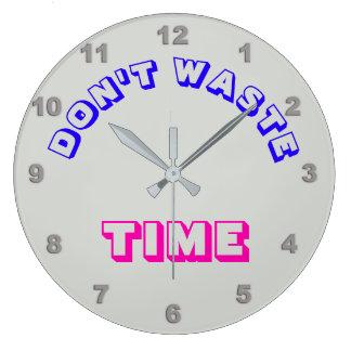 Relógio Grande Não desperdice o pulso de disparo de parede do