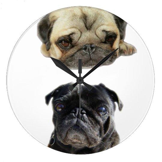 Relógio Grande Não perca a hora estilo pugs