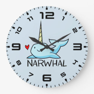 Relógio Grande Narwhal