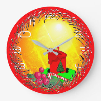 Relógio Grande Natal antiquado