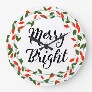 Relógio Grande - Natal - pulso de disparo de parede alegre e