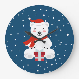 Relógio Grande Natal Snowbear