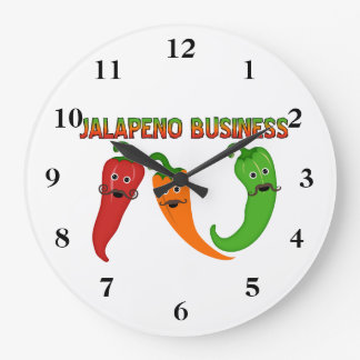 Relógio Grande Negócio do Jalapeno