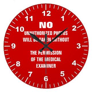 Relógio Grande Nenhum sinal da sala da autópsia das fotos