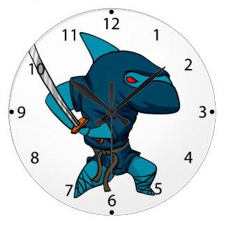 Relógio Grande Ninja do tubarão
