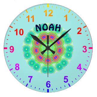 Relógio Grande NOAH personalizou o ~ do Fractal dos círculos do