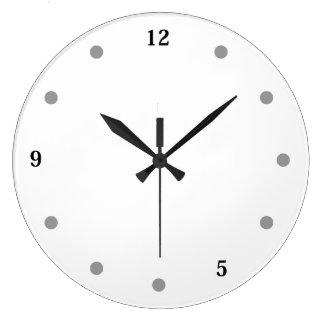 Relógio Grande Nove a cinco & almoço