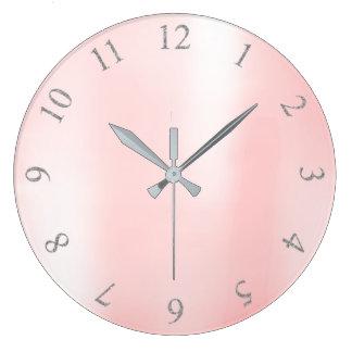 Relógio Grande Números metálicos cor-de-rosa dos E.U. Reino Unido