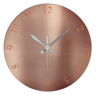 Relógio Grande Números metálicos dos E.U. Reino Unido do brilho