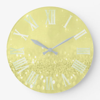 Relógio Grande Números romanos de prata cinzentos do brilho do
