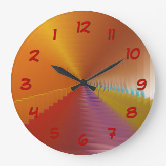 Relógio Grande O abstrato brilhante do escape do túnel cronometra